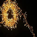MXXDB Infinite Dimming 2 Pack USB Fairy Firecracker Cluster String Lights, Copper Silver Wire 11.5Ft 100 Count LED Fairy Lights for Indoor Outdoor Christmas Tree Wedding Party Holiday Garland Deco