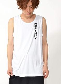 ルーカ(RVCA) メンズ 半袖 ラッシュガード タンクトップ サーフィン ハイブリット 水陸両用 サーフビーチ rvca-rash-tank-L-AJ041-857-WHT