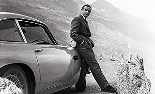 Sean Connery - James Bond - Aston Martin DB5 - Movie Star Portrait Poster