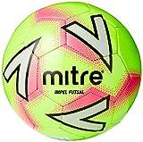 Mitre Impel Futsal - Pallone da calcio, unisex, taglia 4, colore: Verde/Rosa