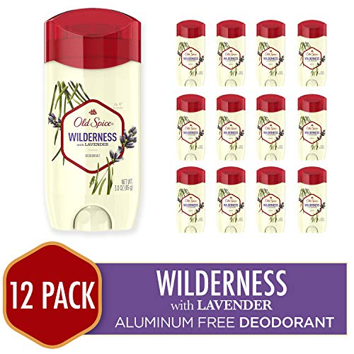 Old Spice Deodorant for Men, Wilderness With Lavender, Inspired By Nature, 3 Ounce (Pack of 12)