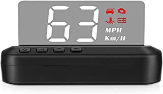 Mainstayae High Definition LED Stereo Imaging Display HUD Head-up Display Speedometer Car Diagnostic Tool OBDⅡ Fault Code ...