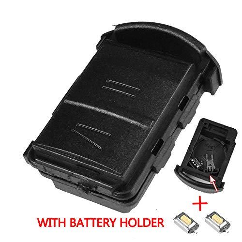 Xukey - Guscio a 2 pulsanti per ricambio chiave telecomando auto Opel/Vauxhall Agila / Combo / Corsa / Meriva Tigra, kit di riparazione chiave con microinterruttori
