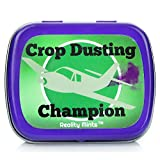 Crop Dusting Champion Mints – Gifts for Friends Weird Stocking Stuffers for Teens Novelty Gifts Peppermint Mints - Funny Dad Gifts White Elephant Ideas Secret Santa Father's Day