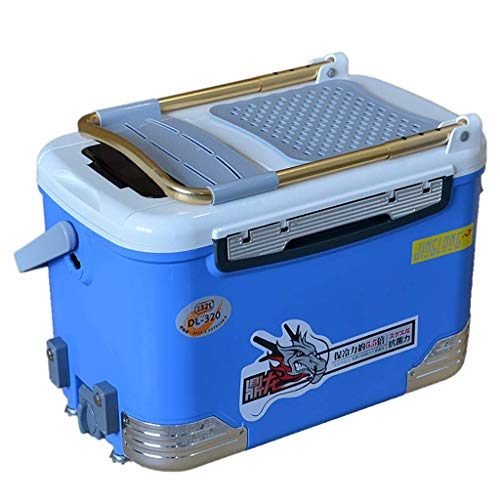 Accessoires multifunctionele incubatorbox voor de visserij, met zitting van 32 liter, groot hefvoetontwerp met rugleuning, outdoorvissen, voor mannen