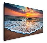 Paul Sinus Art Strände und Sonnenuntergang 120x 60cm