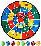 VSHT Juego de Mesa de Niños Interactiva Juguete dardo con 6 Bolas con Sujetadores de Gancho y Bucle, 14,5 Pulgadas (37 cm) de diámetro 710 (Color : A, Size : 14.5inch)