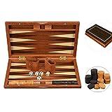 Cutfouwe Backgammon Wood Suitcase Jeu Jeu, Jeu De Société Jeu De Stratégie Classique, Voyage...