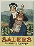 Salers Gentiane Auvergne Poster, Reproduktion, Format 50 x