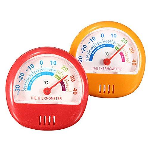 ZSYXM Termómetro Instrumento de medición de Temperatura Interior -30~40 Grados Pantalla de Puntero Refrigerador Terminación Termómetro Dial Localización de Escritorio (Color : Red)