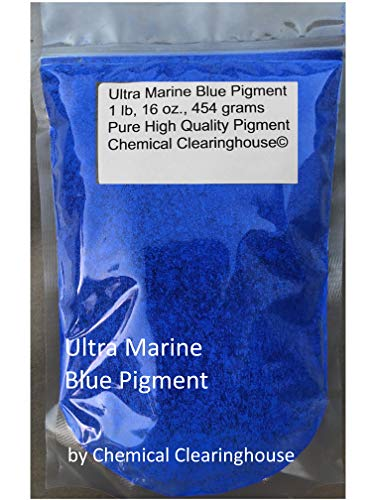 Ultra Marine Blue Pigment 1 lb or 16 oz, Marine Blue Pure Pigment for Concrete, Plaster, Drywall, Acrylic Paint, Oil Paint, Tiles, Water Colors, Nail Art, Eye Shadow by Chemical Clearinghouse