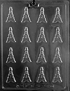 CybrTrayd M246-3BUNDLE Bite Sized Eiffel Towers Chocolate Candy Mold (Set of 3), Clear