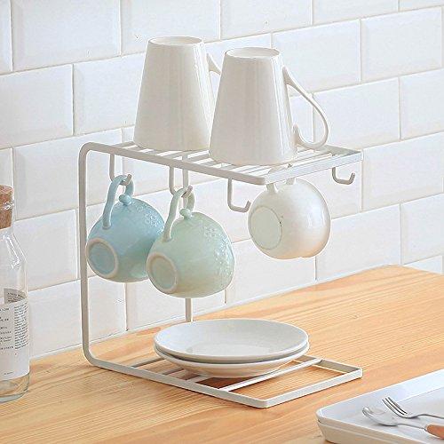 E-meoly Métal Autonome Mug/tasse/Assiette/plat/organiseur de bouteille en verre de stockage Affichage support créatif de table Linge Séchoir support de présentation