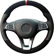 ZYTXFXP For Hand-stitched Car Steering Wheel Cover for Mercedes-Benz C180 C200 W205 C300 B200