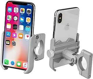 Universal Premium Bike Phone Mount for Motorcycle - Bike Handlebars, Adjustable, Fits iPhone X, XR, 8 | 8 Plus, 7 | 7 Plus, iPhone 6s | 6s Plus, Galaxy, S9, S8, S7 (Grey)