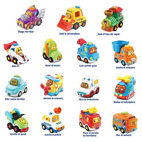 VTech Surtido Coches interactivos Bólidos, válidos para Todos los playsets de la colección TutTut, Cada uno Incluye botón con interacción Sorpresa, Solo se envía un vehículo, Multicolor (80-202417)