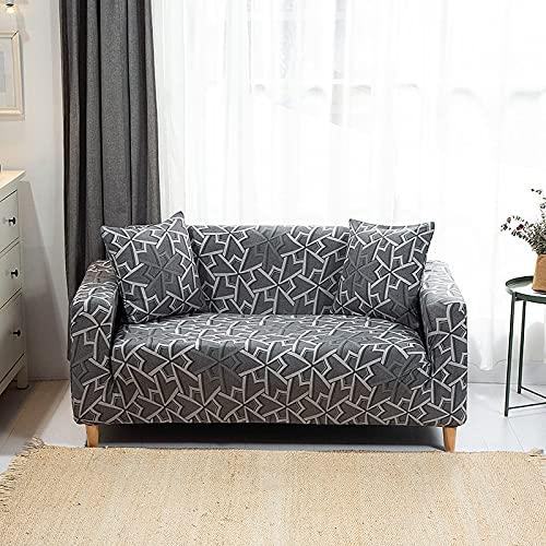 WXQY Funda de sofá elástica en Forma de L Funda de sofá de Esquina Sala de Estar Spandex Funda de sofá Modular Barata Funda de sofá A21 1 Plaza