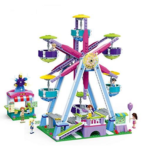 LuckyOne NUEVO City Friends Series Parque de atracciones hamburguesas tienda modelo bloques de construcción ladrillos parque juegos juguetes para niños Christams juguetes regalos