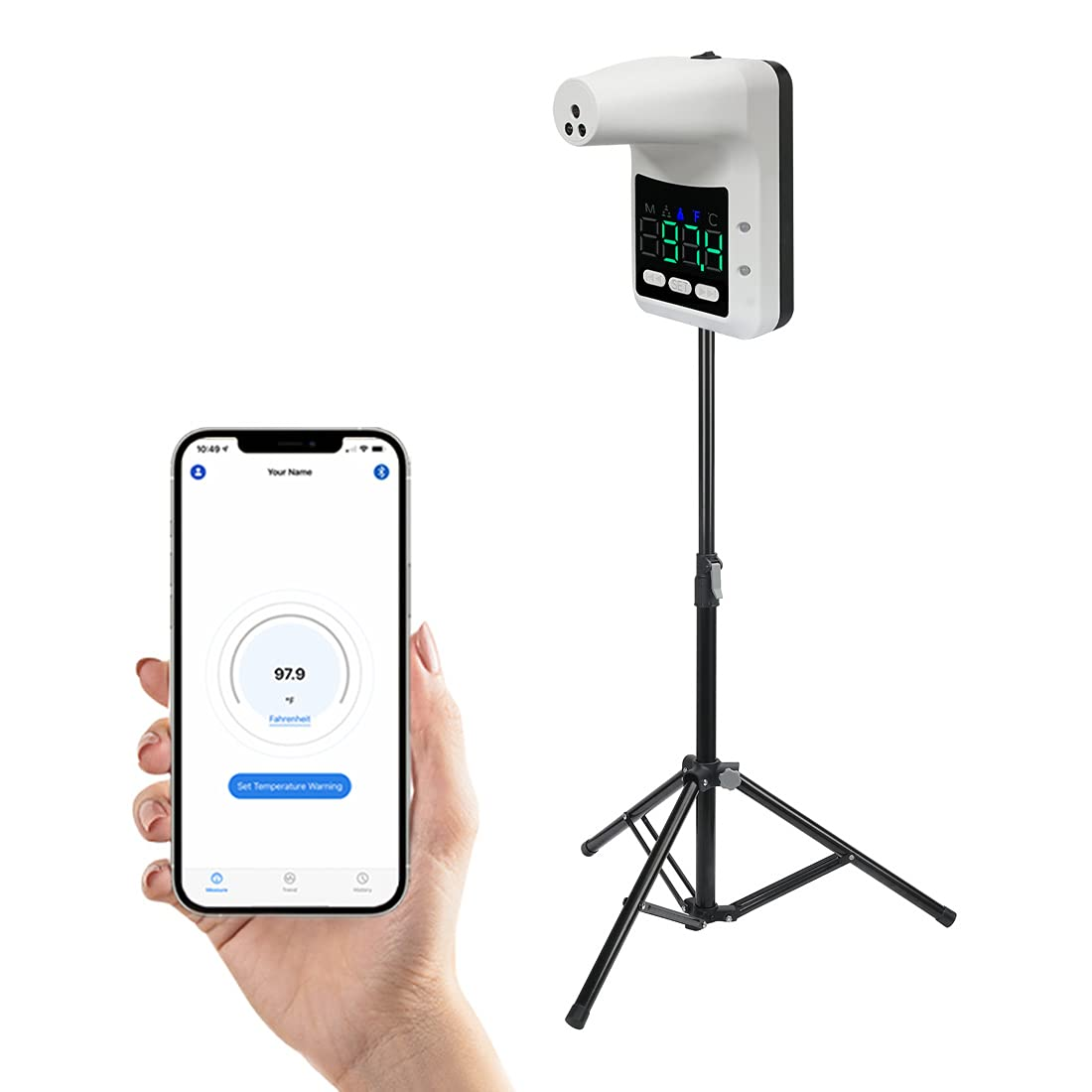 Wall-Mounted Body Thermometer with Cheap super special price Bluetooth Holder and Weekly update Tripod