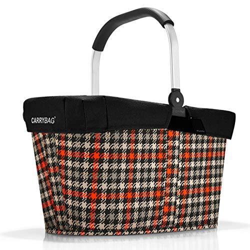 reisenthel Angebot Einkaufskorb carrybag Plus passendes Cover Sichtschutz Abdeckung (Glencheck red)