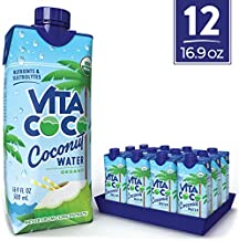 Vita Coco Coconut Water, Pure Organic | Natural Hydrating Electrolyte Drink | Shelf Stable | Smart Alternative To Coffee, Soda, & Sports Drinks | Gluten Free | 16.9 Oz (Pack Of 12)