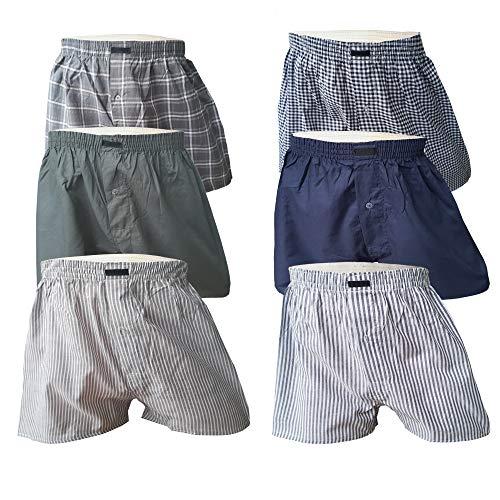 6 Stück Boxershorts Herren Baumwolle Unterhose Männer Sport Boxer Short Webboxer Baumwolle Retroshorts Set (XL/7, 6er Pack)