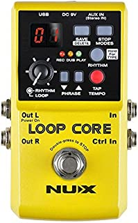 Nux Loop Core Guitar Effect Pedal Looper 6 Hours Recording Time, 99 User Memories, Drum Patterns with Tap Tempo