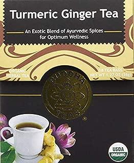 Organic Turmeric Ginger Tea - Kosher, Caffeine-Free, GMO-Free - 18 Bleach-Free Tea Bags (1 Pack 18 Tea Bags)