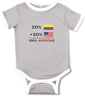 Cute Rascals 50% Colombian 50% American = 100% Awesome Cotton Baby Soccer Bodysuit
