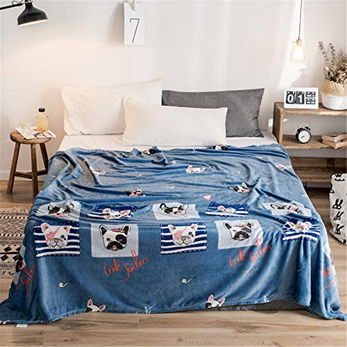 Sviuse Cute Blanket Cartoon Plush Soft Warm Flannel Print Throw Blanket for Bed Sofa All Seasons Suitable for Kids Adults Women Gift (59x79 Inch, Cool Dog)
