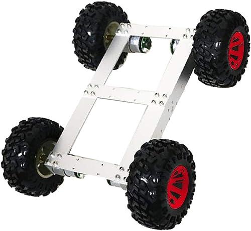B Blesiya Roboter Modell Bausatz inkl. Chassis + Motor + Motorhalterung + Schraube + R r + Kupplung, aus Aluminiumlegierung - Rot Rad