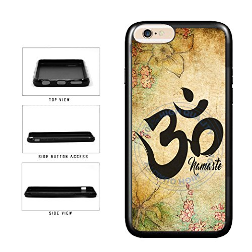 BRGiftShop Detailed Floral Print Namaste Rubber Phone Case for iPhone SE 2020, iPhone 6 6s / 7/8