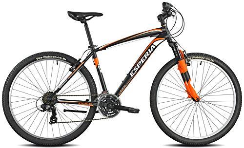 Esperia 108200U Portland, Bicicletta Uomo, Nero/Arancio, M