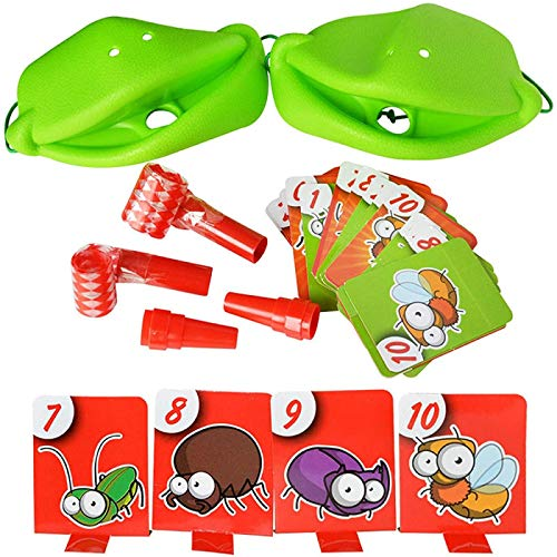 OUPDJ Juguete de escritorio con diseño de camaleón codicioso (4 piezas) para atrapar la lengua, juego interactivo de escritorio para cualquier persona