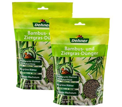 Dehner Bambus- und Ziergras-Dünger, 2 x 1 kg (2 kg), für je ca. 20 qm