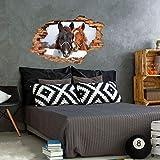 Sticker 3D Effekt | Wandaufkleber Pferd - Tapete Dekoration optische Täuschung Raum und Wohnzimmer | 60 x 90 cm - 3