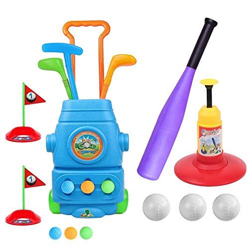 HanShe Golf Toy,Baseball Toy,Kids Golf Set with 6 Balls,Baseball Set with 3 Balls,Golf for Kids,Baseball Toddler,Toddler Golf Set,Kids Golf,Kids Baseball,Outdoor Toy,Birthday Gift