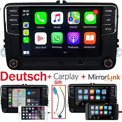 "RCD330 RCD330 Plus Autoradio 6.5""Radio Carplay MirrorLink Navigation und Antenne Bluetooth FM/AM USB AUX RVC Für VW Volkswagen Tiguan Golf 5 6 Ameo MK5 MK6 Passat Vento Touran Caddy EOS CC"