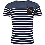 Religion Rugby - T-Shirt Marinière Rugby Bicolore - 4XL