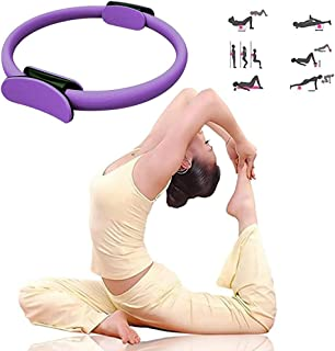 ETCBUYS Ultra-Fit Yoga Magic Circle Body Balanced Pilates Exercise Ring Weight Loss Body Toning Enhance Posture Dual EVA Foam Non-Slip Ring Ideal for All Fitness Levels Pink /& Black 2 Pack