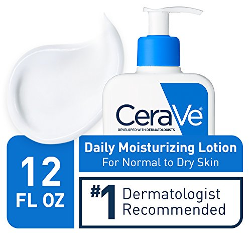 CeraVe Daily Moisturizing Lotion for Dry Skin | Body Lotion & Facial Moisturizer with Hyaluronic Acid and Ceramides | Packaging May Vary | 12 Ounce