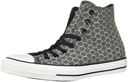 Converse Ct All Star Ii Hex Jaquard Hi Herren Sneakers Black White - 10 UK