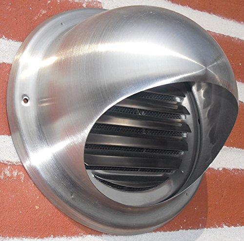 VentilationNord Ablufthaube NW150 Aussenhaube Lufthaube mit Klappe Edelstahl Dunstabzug WSKE150