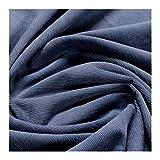 Stoff am Stück Stoff Baumwolle Cord jeansblau