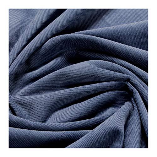 Stoff Baumwolle Cord jeansblau Baumwollstoff Babycord Feincord