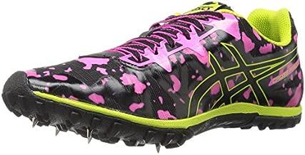 ASICS Women's Freak 2 Cross-Country Running Shoe, Hot Pink/Black/Neon Lime, 8.5 M US