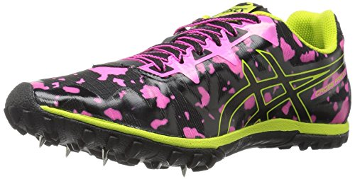 ASICS Women's Freak 2 Cross-Country Running Shoe, Hot Pink/Black/Neon Lime, 8 M US