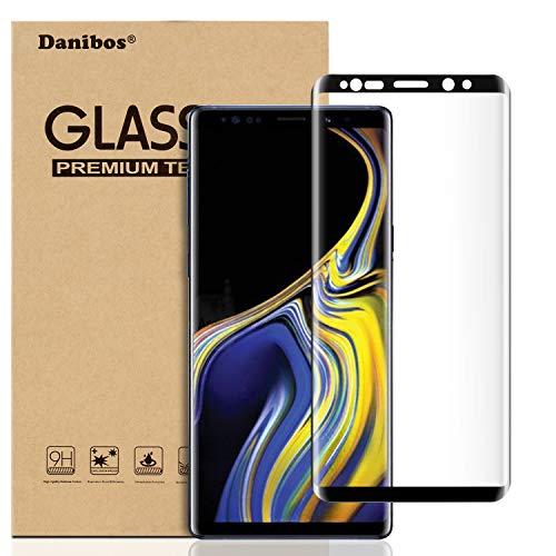 Danibos - Pellicola Protettiva per Display per Samsung Galaxy Note 9, in Vetro temperato 3D HD 9H, Trasparente