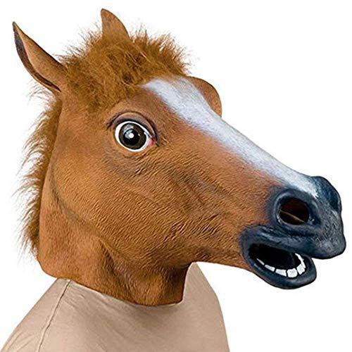 SSeir Halloween Kostuum Party Latex Dierenkop Masker Paardenhoofd