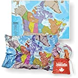 Waypoint Geographic Canada Scrunch Map - Easy to Store Map with Storage Bag (24' H x 36' W)